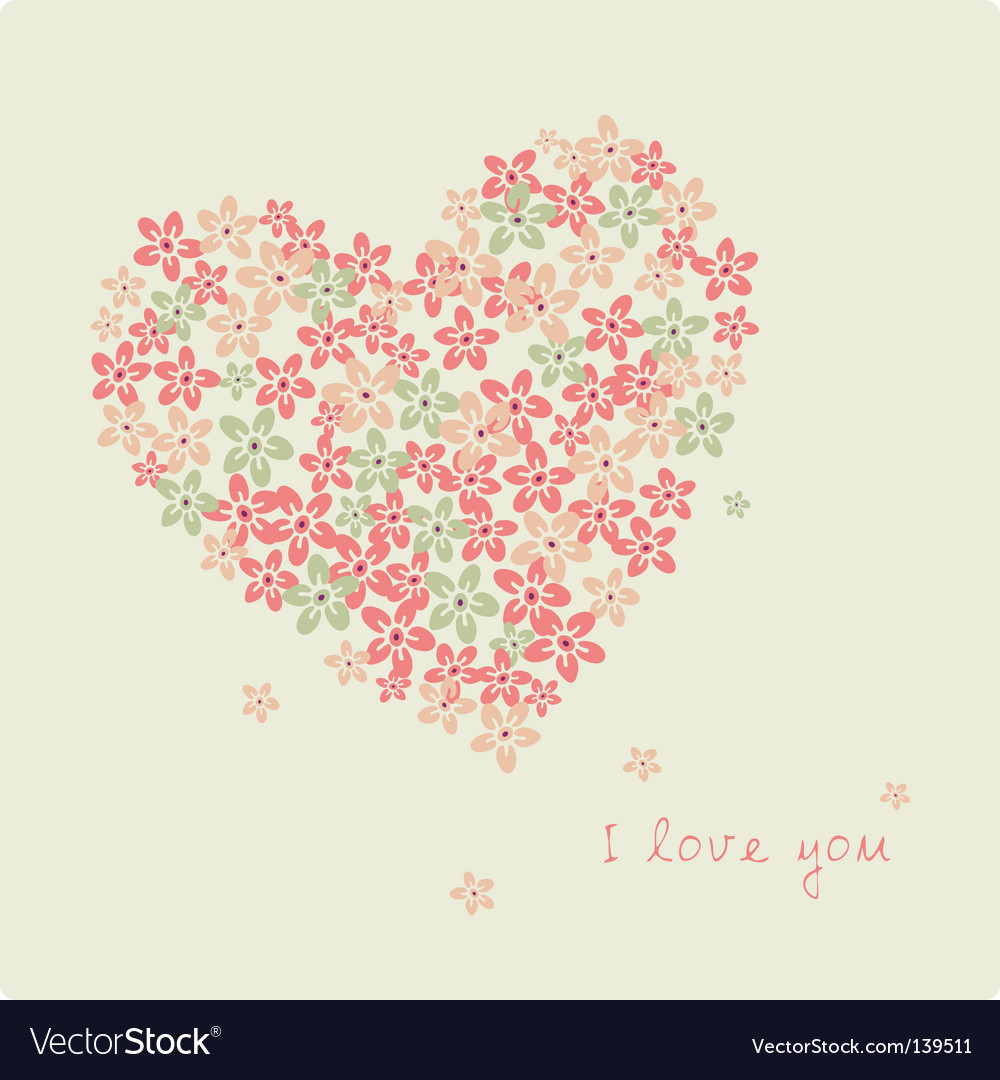 Love flower vector | Price: 1 Credit (USD $1)