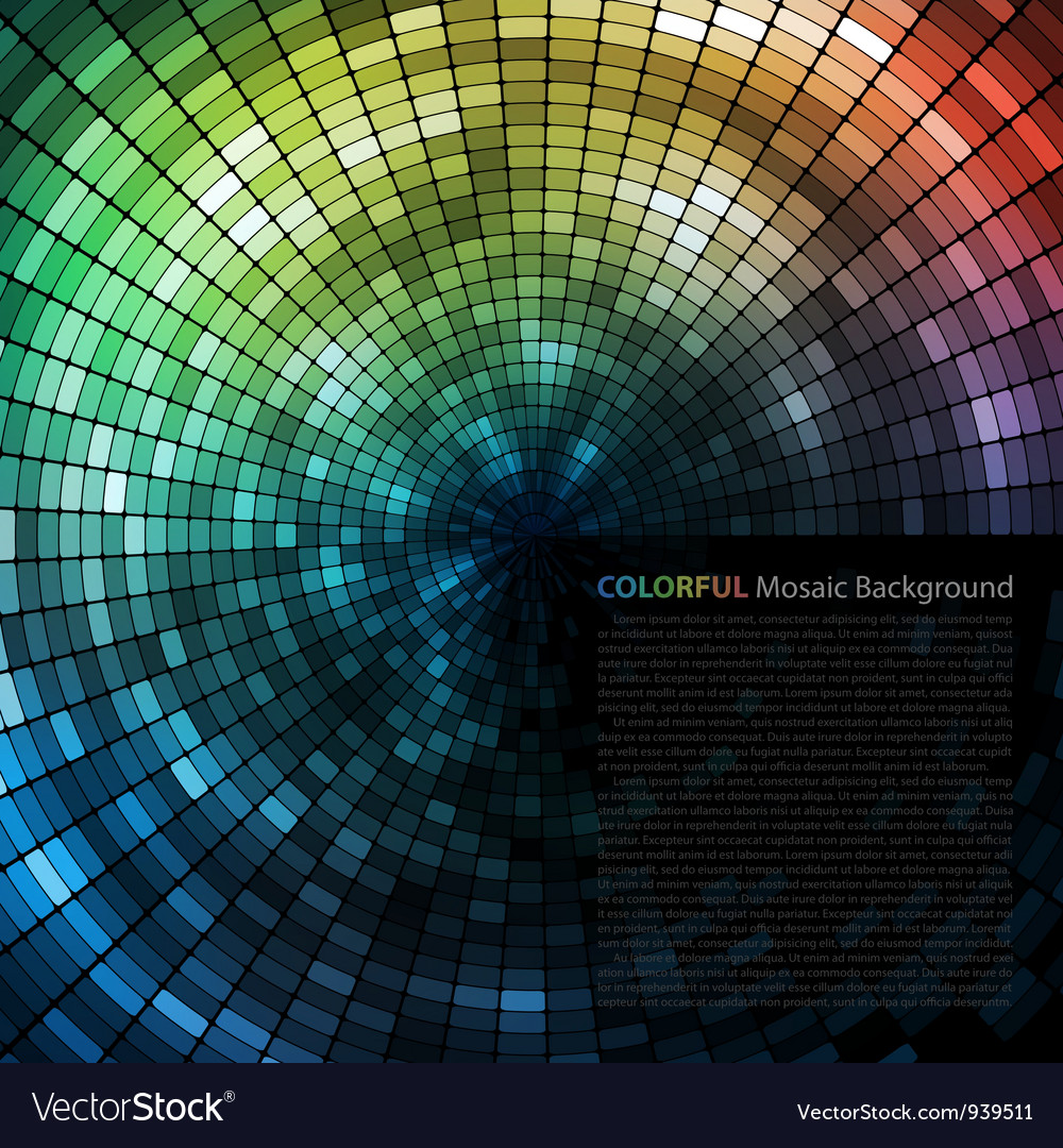 Mosaic tunnel background vector   Price: 1 Credit (USD $1)