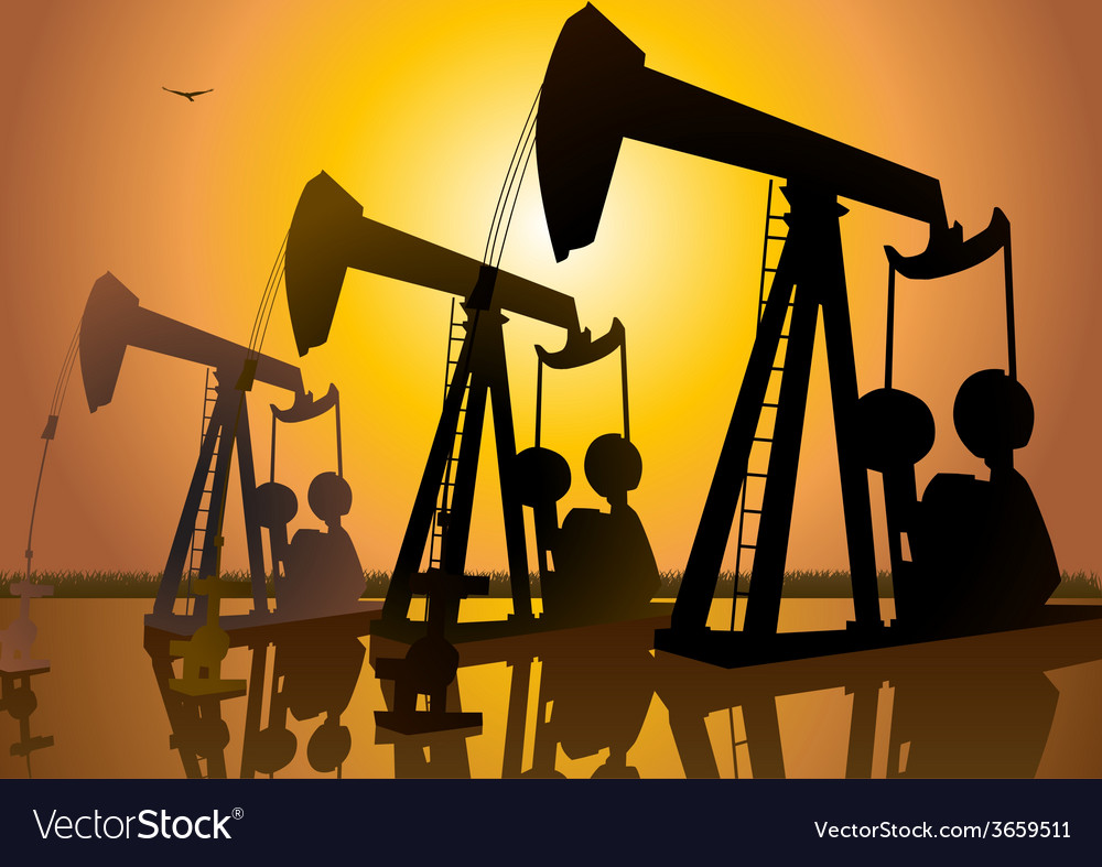 Oil drilling vector | Price: 1 Credit (USD $1)