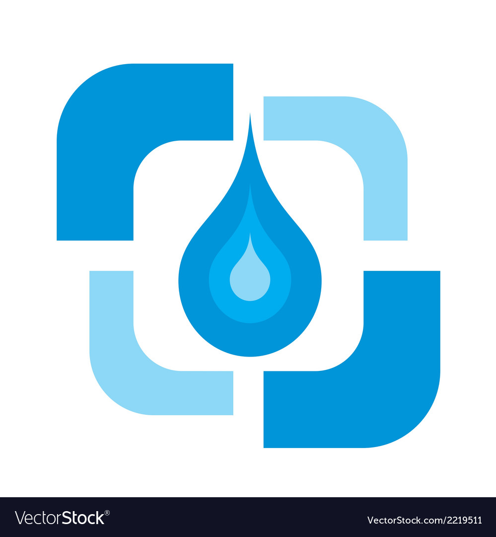 Pure water drop logo vector | Price: 1 Credit (USD $1)