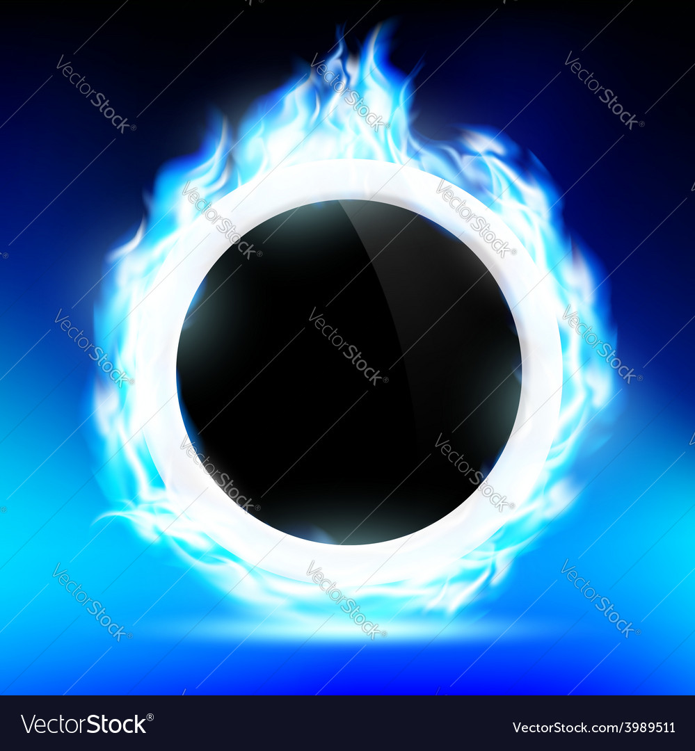 The ring burns blue flame vector | Price: 1 Credit (USD $1)