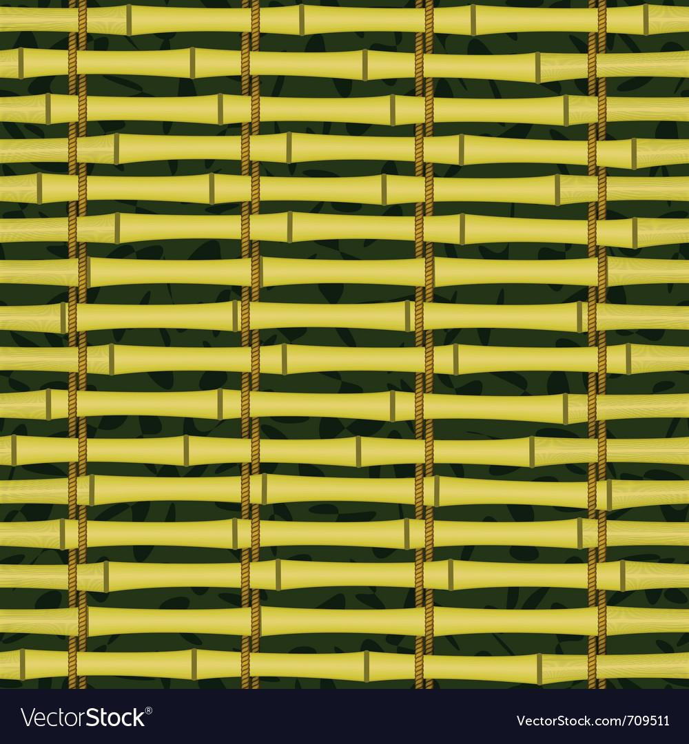 Seamless bamboo jalousie vector