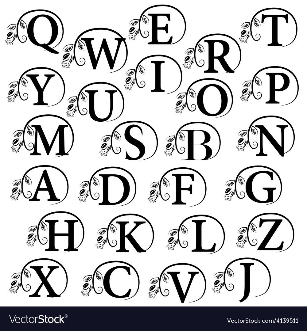 Vintage alphabet design element vector | Price: 1 Credit (USD $1)