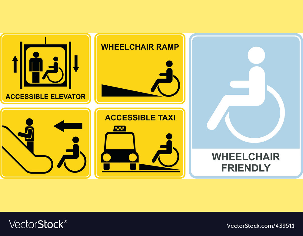Wheelchair sign vector | Price: 1 Credit (USD $1)