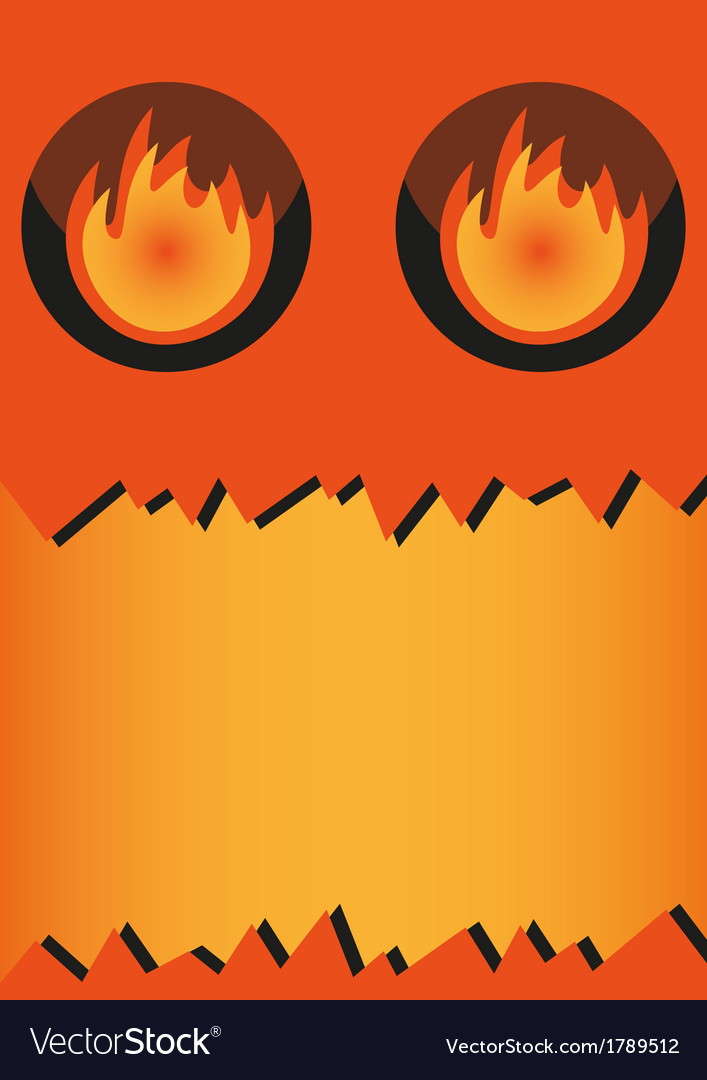 Banner halloween monster vector | Price: 1 Credit (USD $1)
