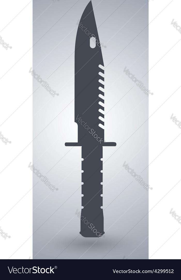 Bayonet m9 knife icon vector | Price: 1 Credit (USD $1)