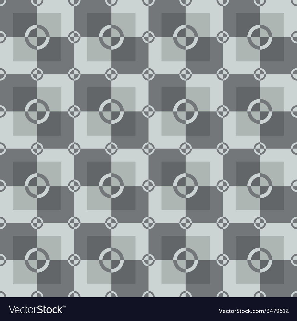 Circle-squares pattern in gray and white colors vector | Price: 1 Credit (USD $1)
