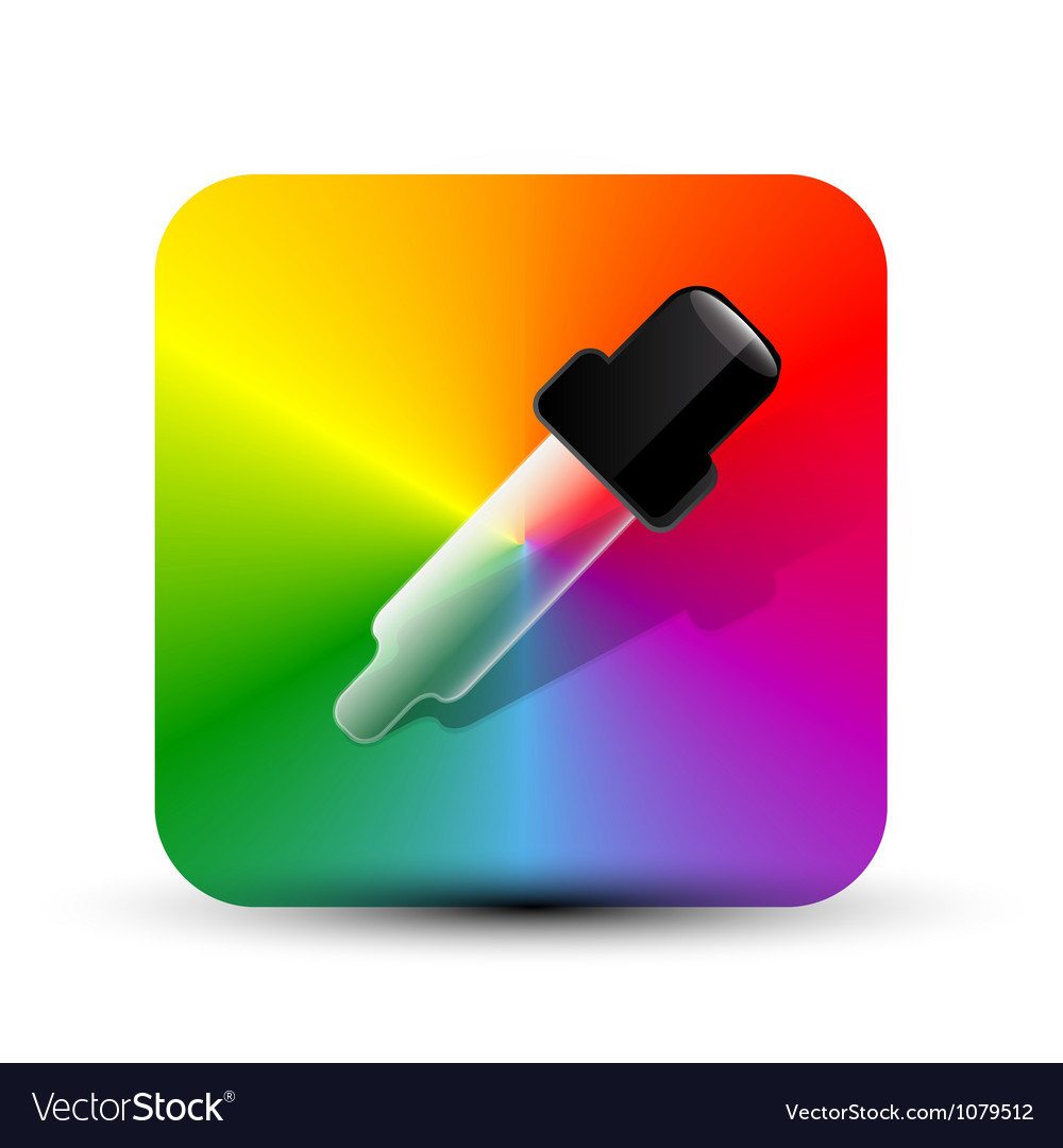 Color picer icon vector | Price: 1 Credit (USD $1)