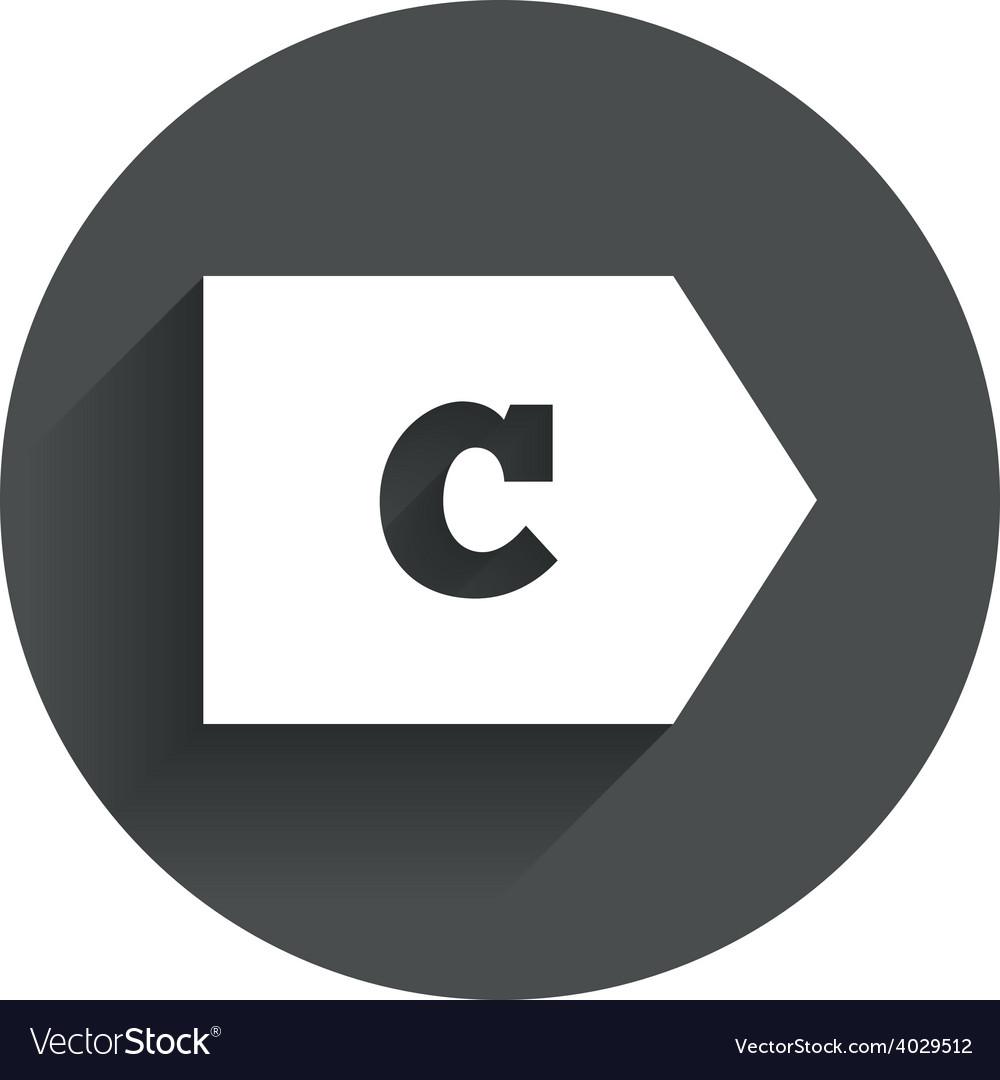 Energy efficiency class c energy consumption vector | Price: 1 Credit (USD $1)