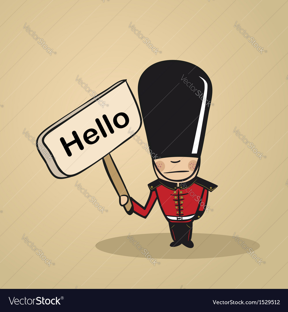 Hello from uk people vector | Price: 1 Credit (USD $1)