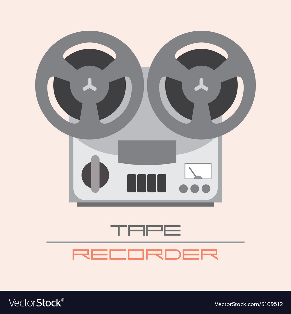 Tape recorder vector | Price: 1 Credit (USD $1)