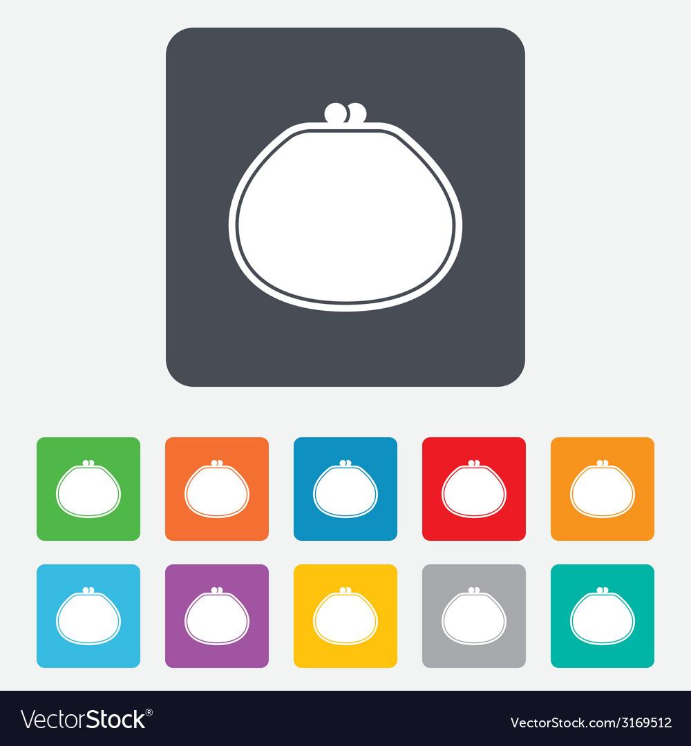 Wallet sign icon cash bag symbol vector | Price: 1 Credit (USD $1)