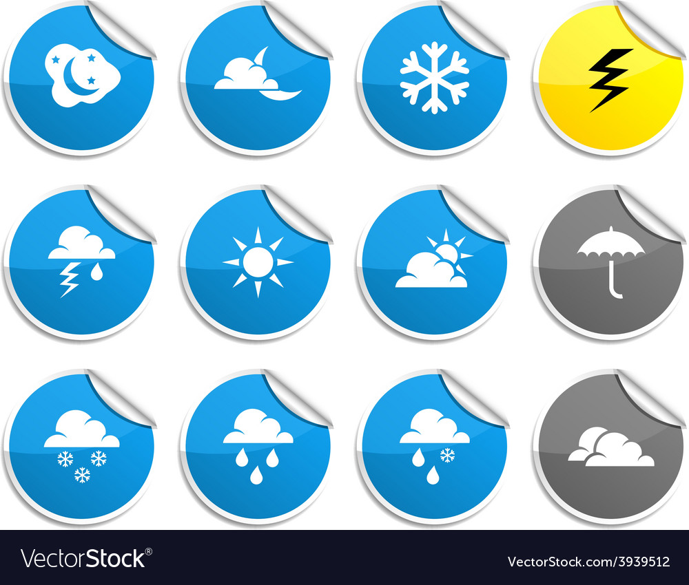 Weather stickers vector | Price: 1 Credit (USD $1)