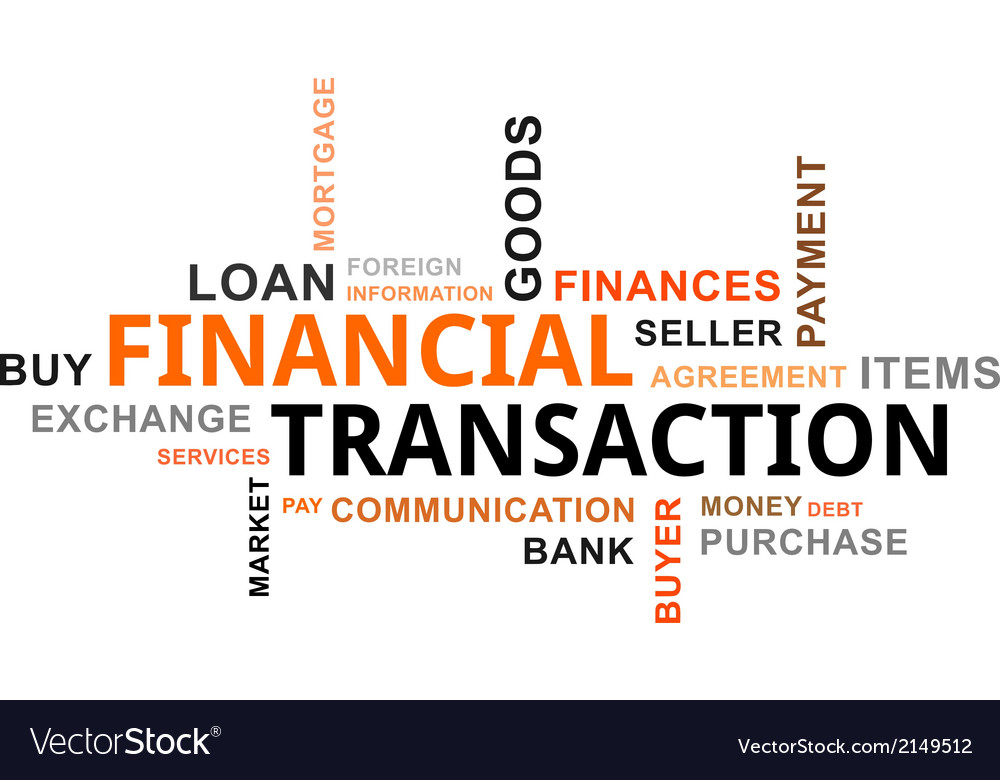 Word cloud financial transaction vector | Price: 1 Credit (USD $1)