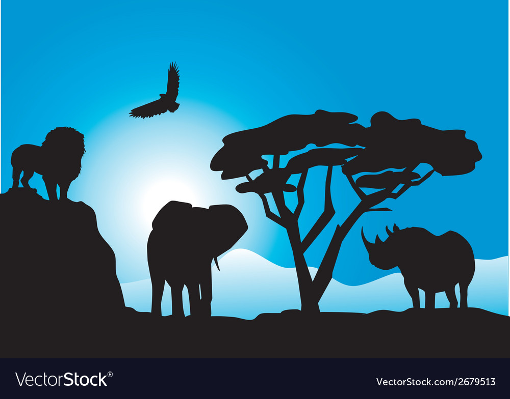 African animals vector | Price: 1 Credit (USD $1)