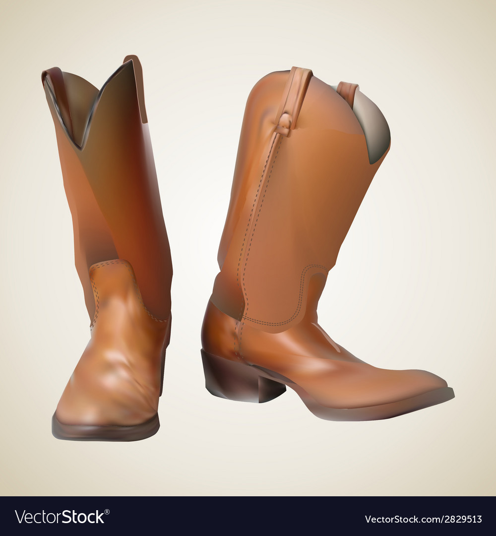 Beautiful cowboy boots vector | Price: 1 Credit (USD $1)