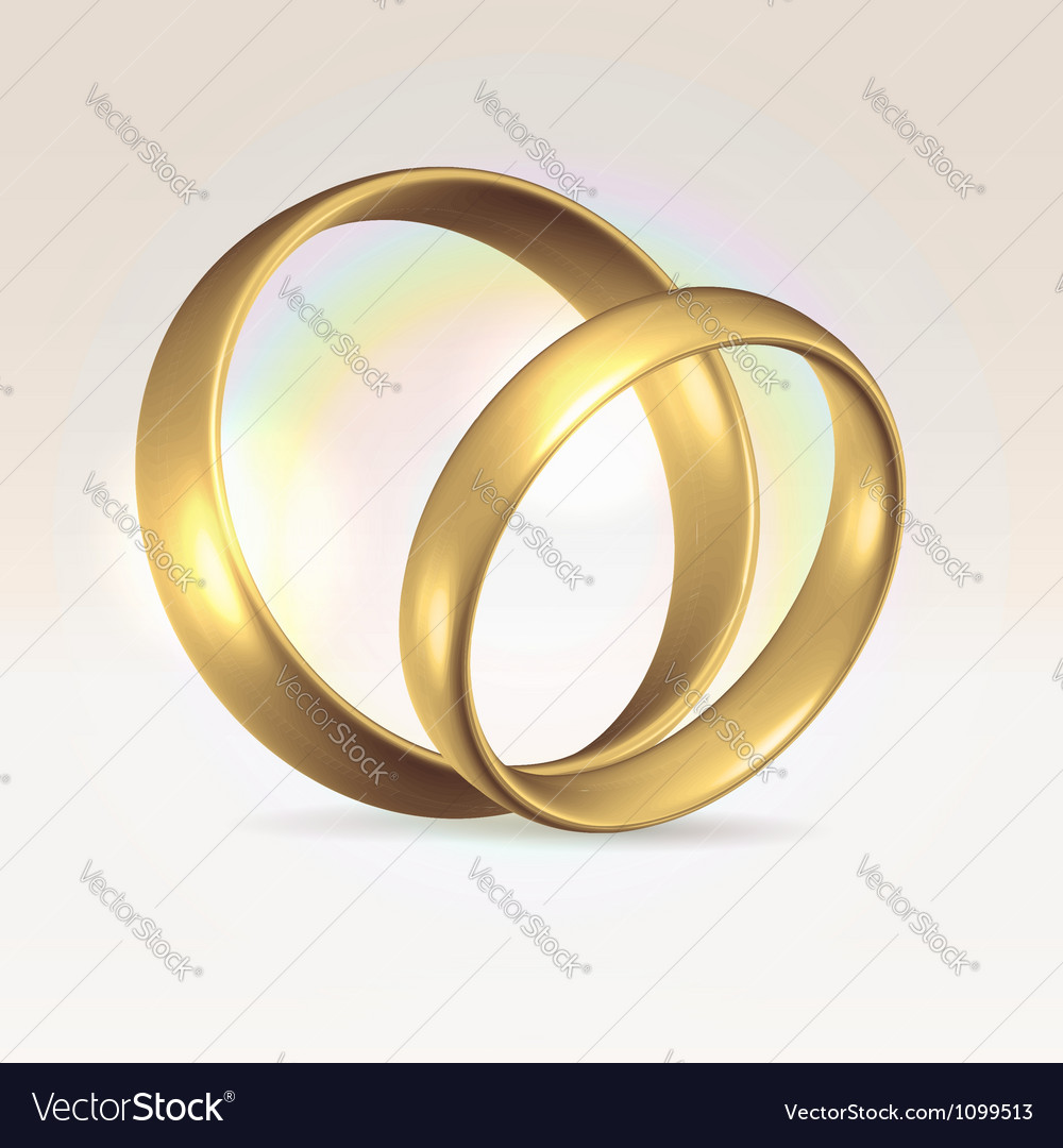 Couple of wedding rings vector | Price:  Credit (USD $)