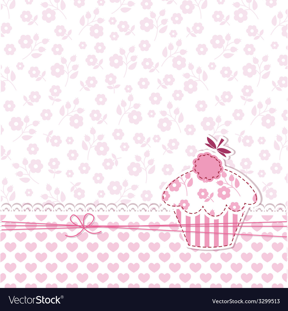 Cupcake background vector | Price: 1 Credit (USD $1)
