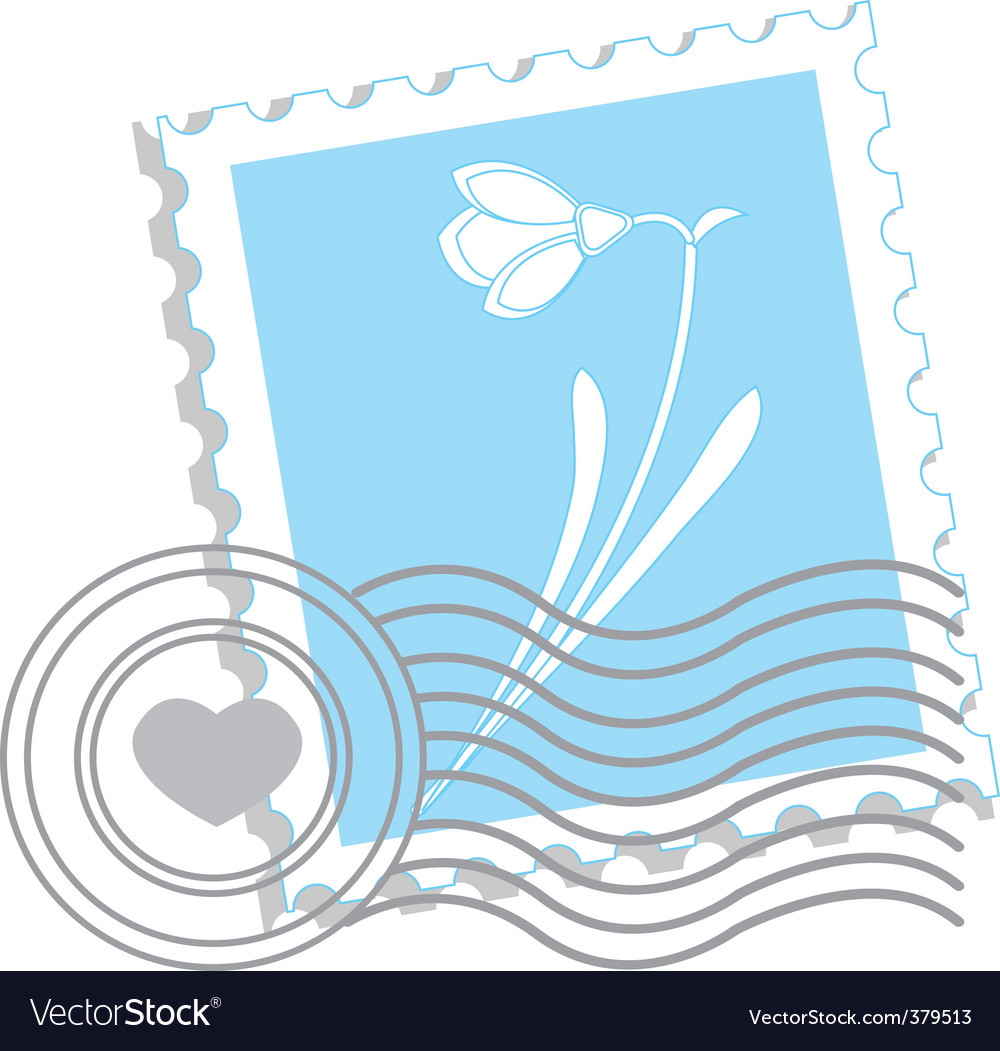 Flower stamp vector | Price: 1 Credit (USD $1)