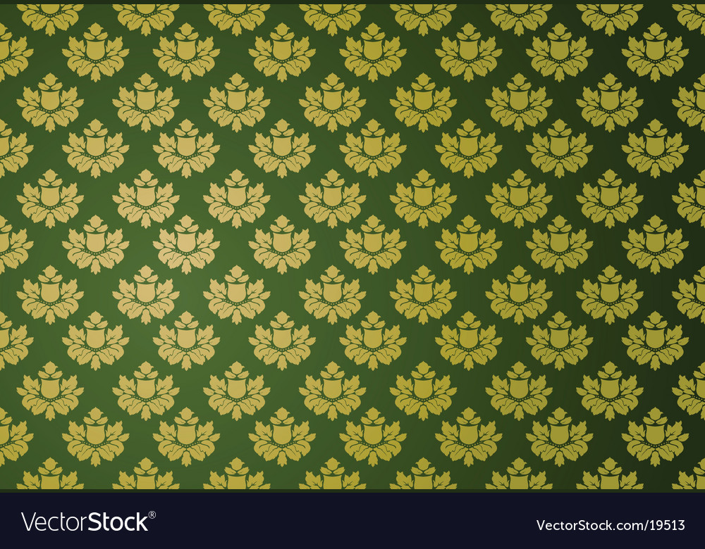 Gold and green glamour pattern vector | Price: 1 Credit (USD $1)