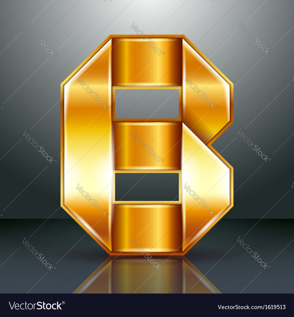 Letter metal gold ribbon - b vector | Price: 1 Credit (USD $1)