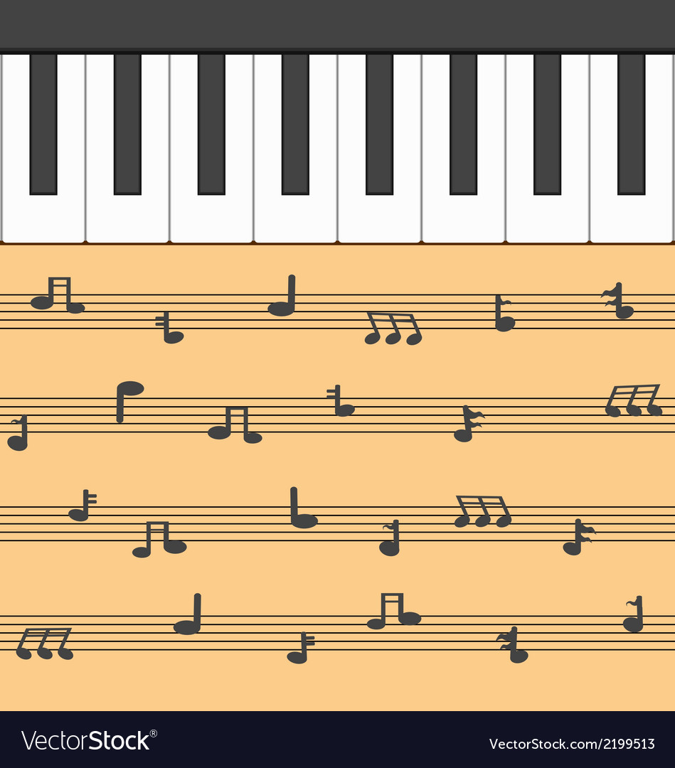 Piano music vector | Price: 1 Credit (USD $1)