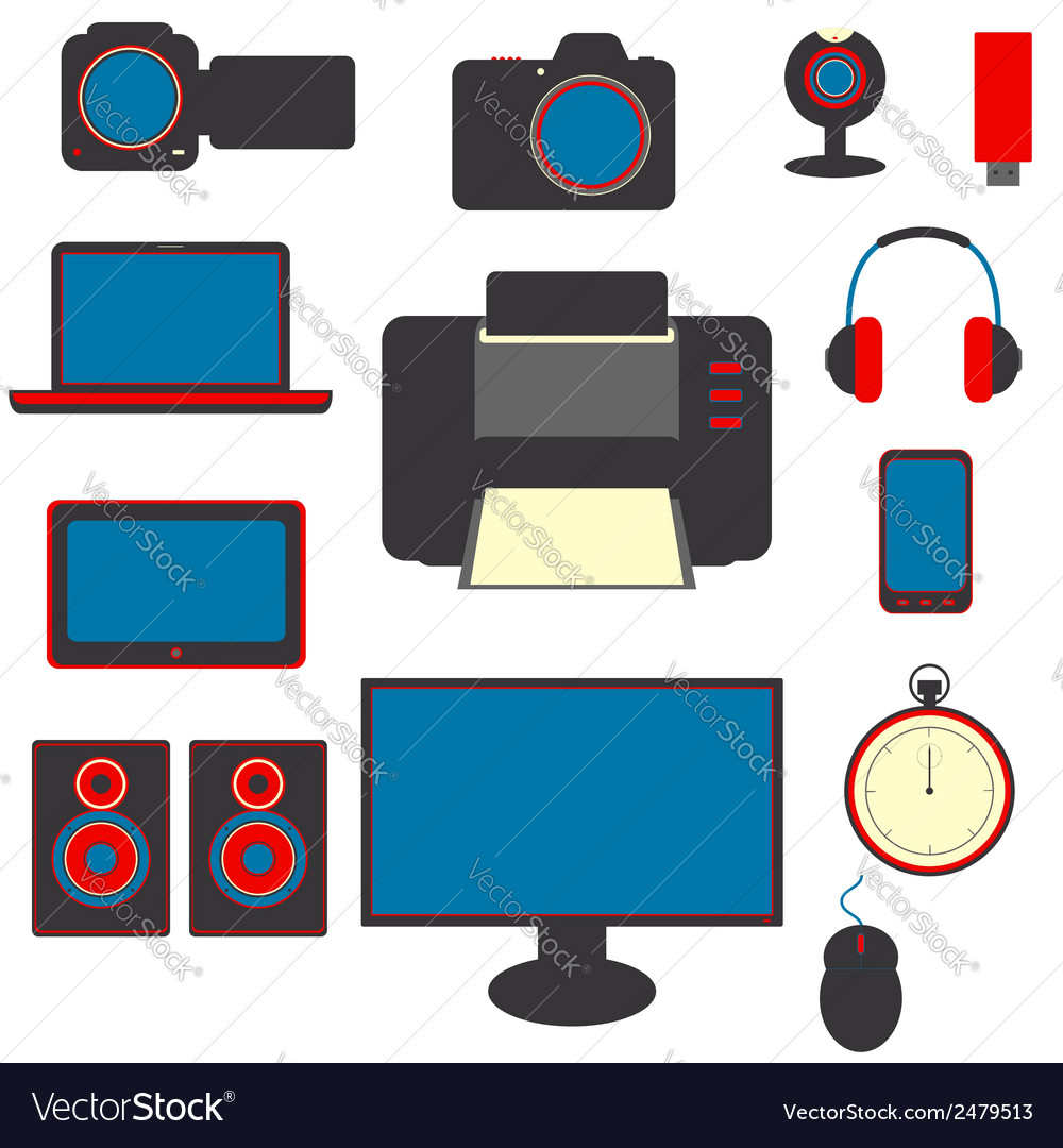 Set of gadgets vector | Price: 1 Credit (USD $1)