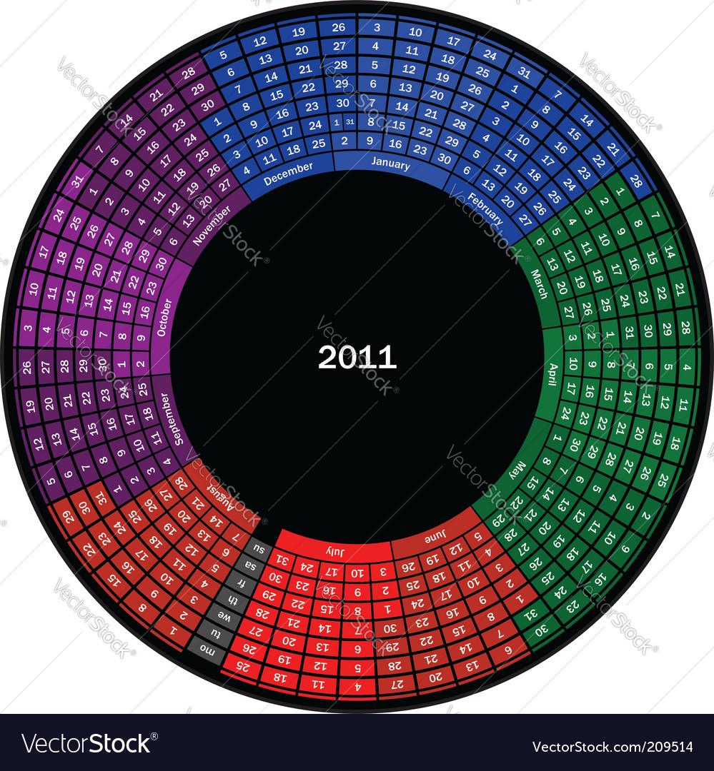 2011 calendar vector | Price: 1 Credit (USD $1)