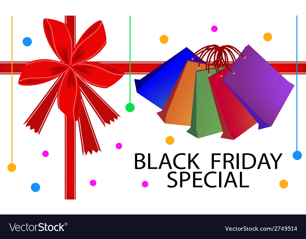 Black friday special card with shopping bags vector | Price: 1 Credit (USD $1)