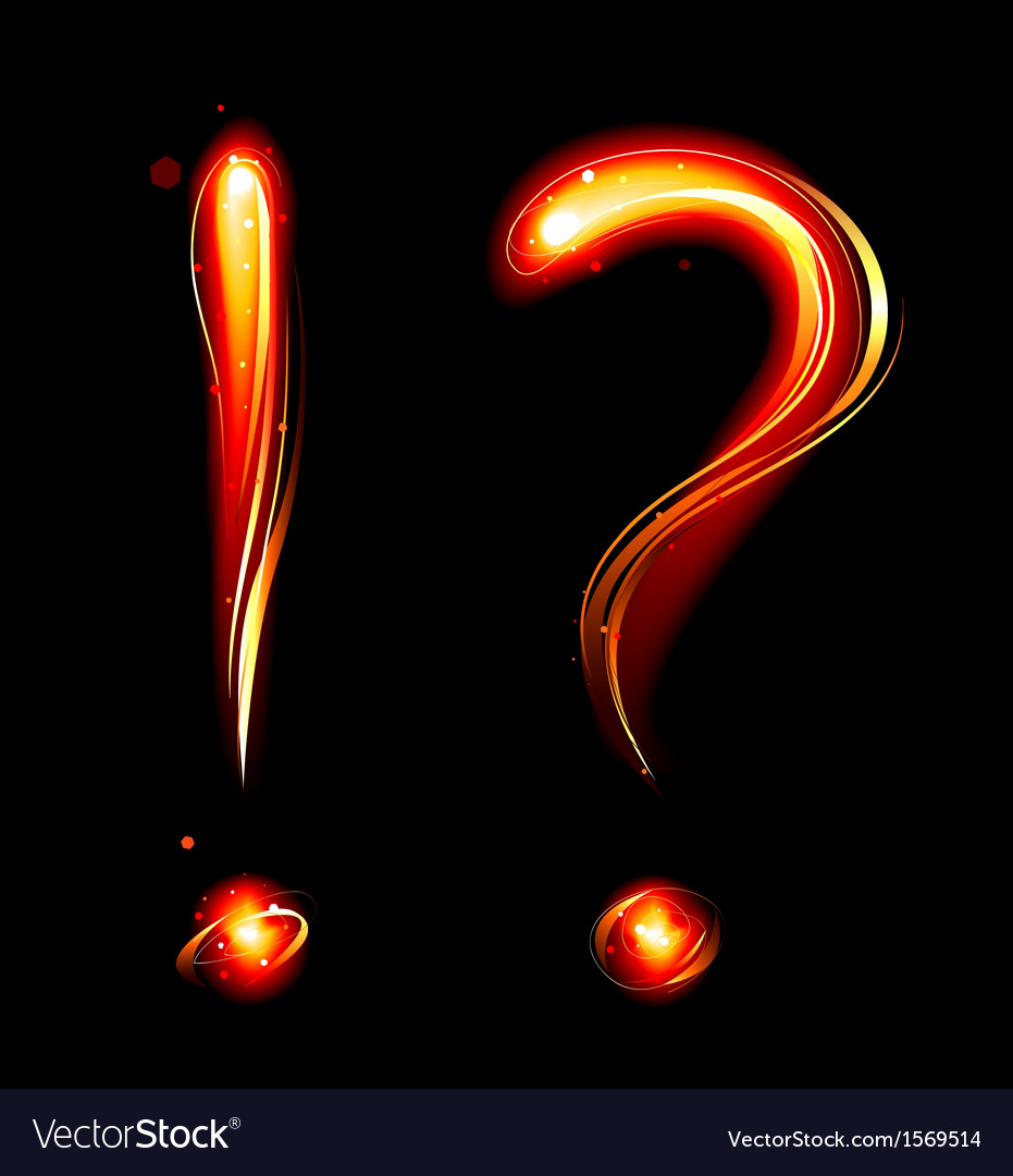 Fiery question mark vector | Price: 1 Credit (USD $1)