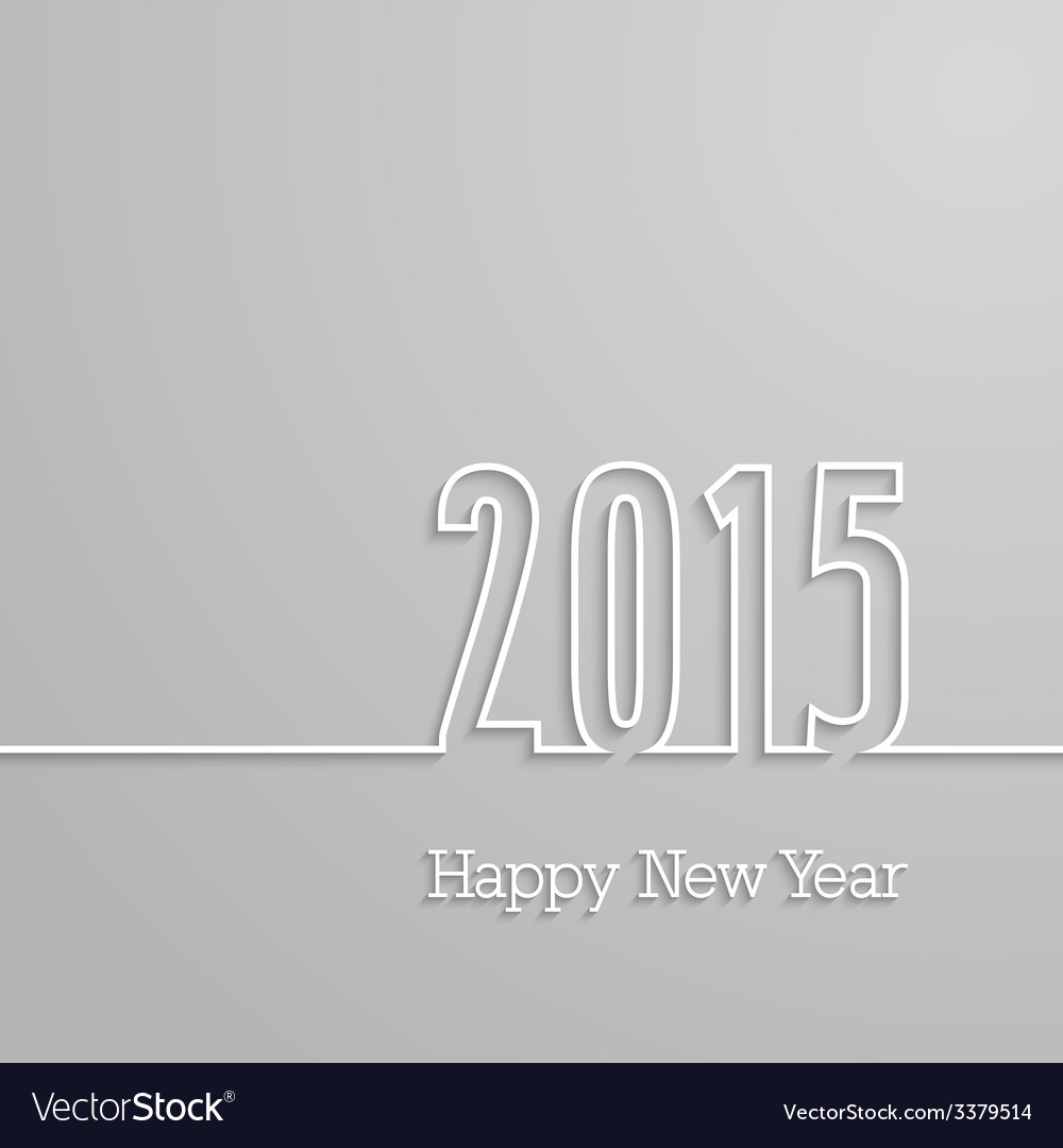 Happy new year 2015 paper postcard vector | Price: 1 Credit (USD $1)