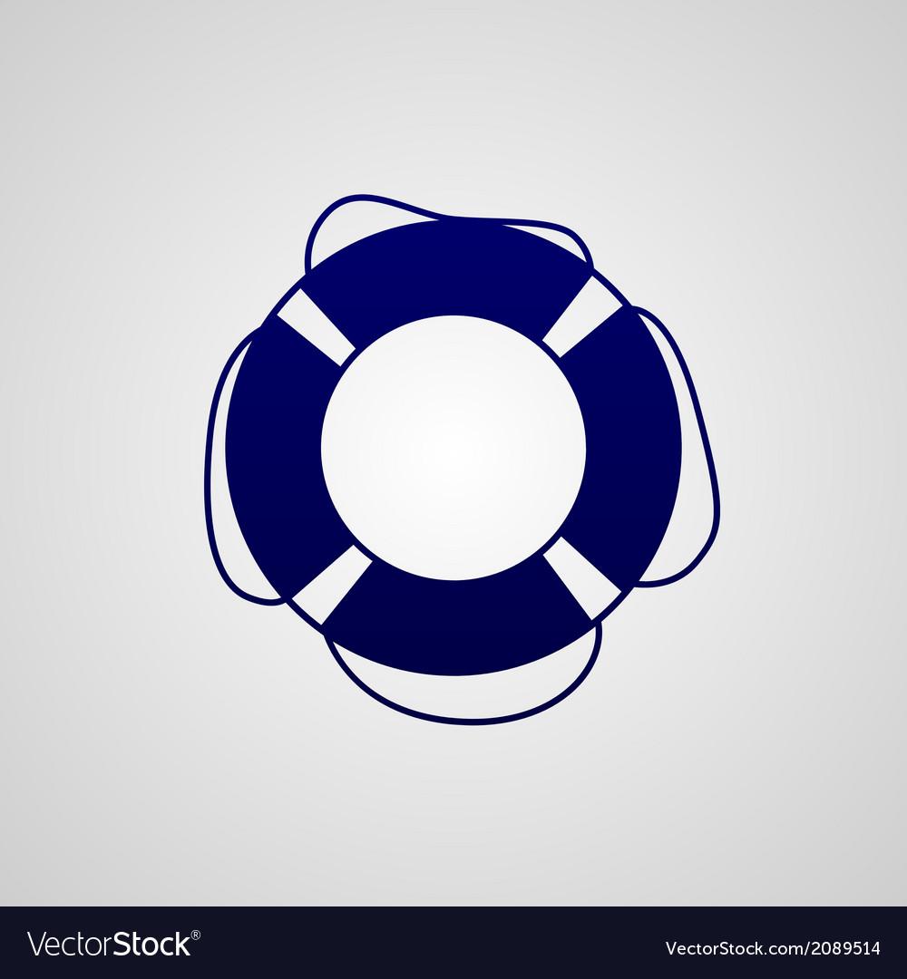 Lifebuoy icon vector | Price: 1 Credit (USD $1)