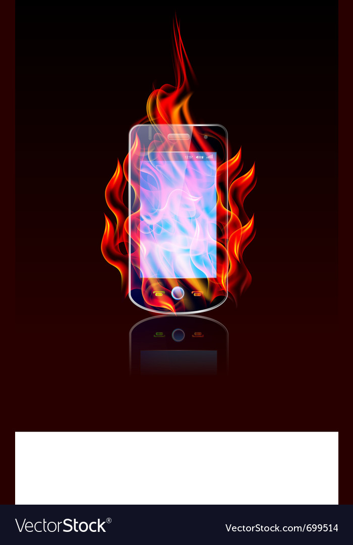 Mobile burn vector | Price: 3 Credit (USD $3)