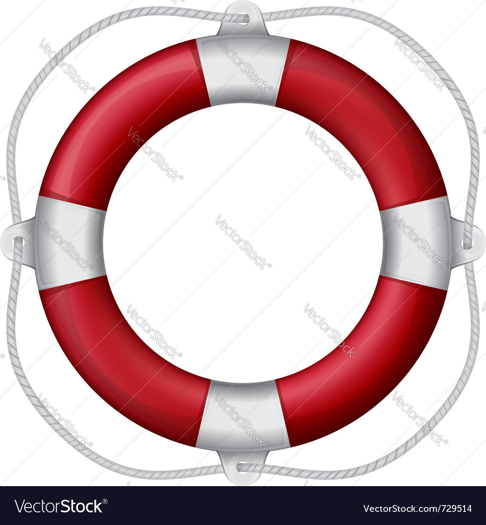 Of marines red life buoy eps10 vector | Price: 1 Credit (USD $1)