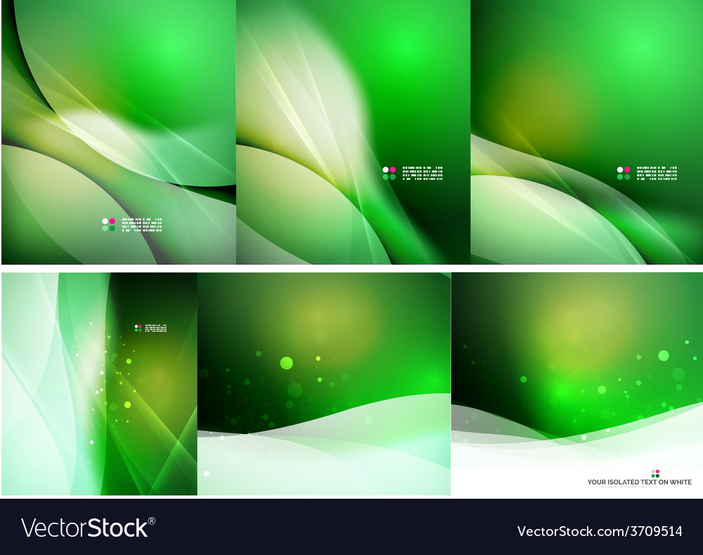 Set of abstract shining backgrounds vector | Price: 1 Credit (USD $1)