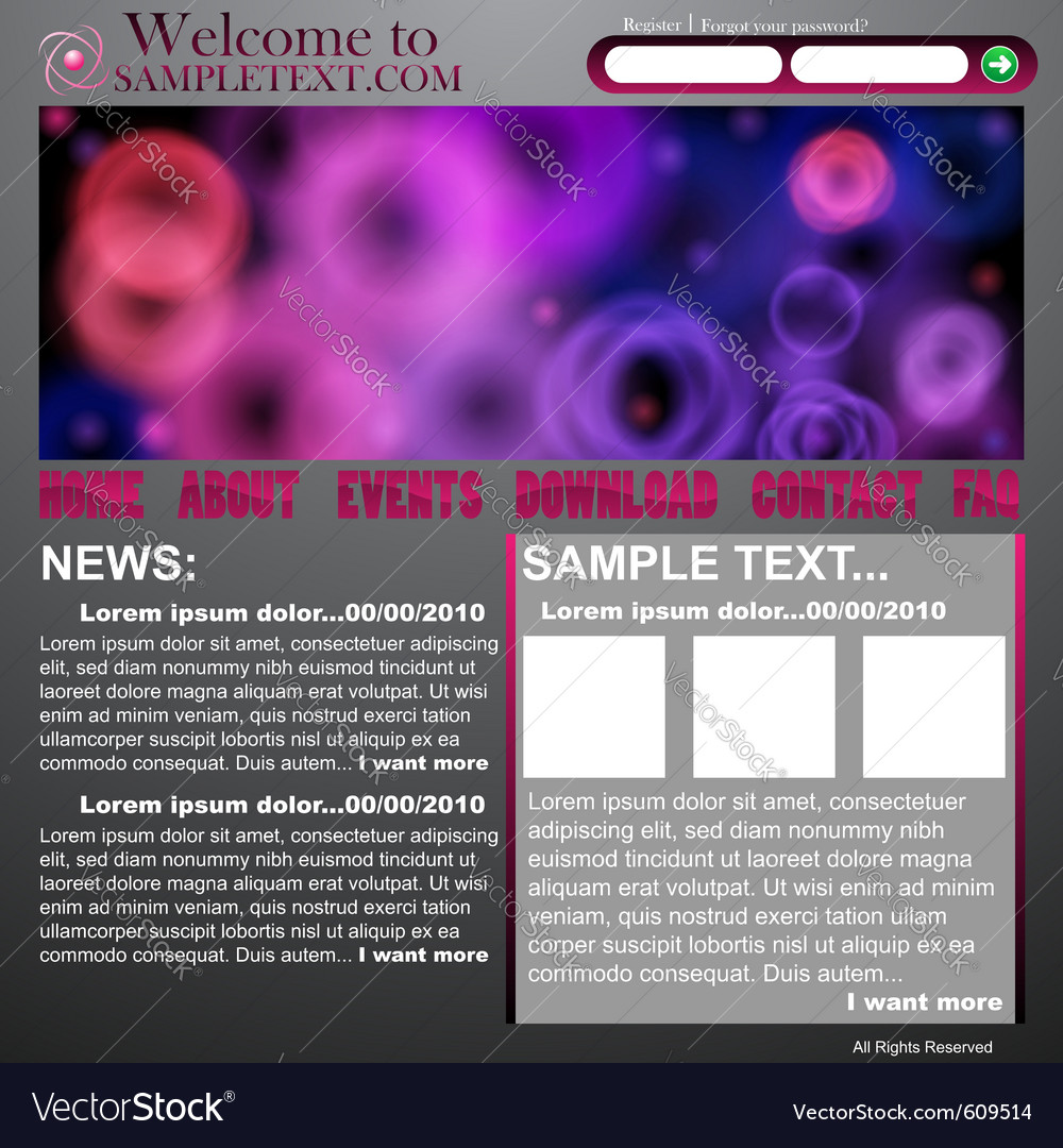 Website abstract design template vector | Price: 1 Credit (USD $1)