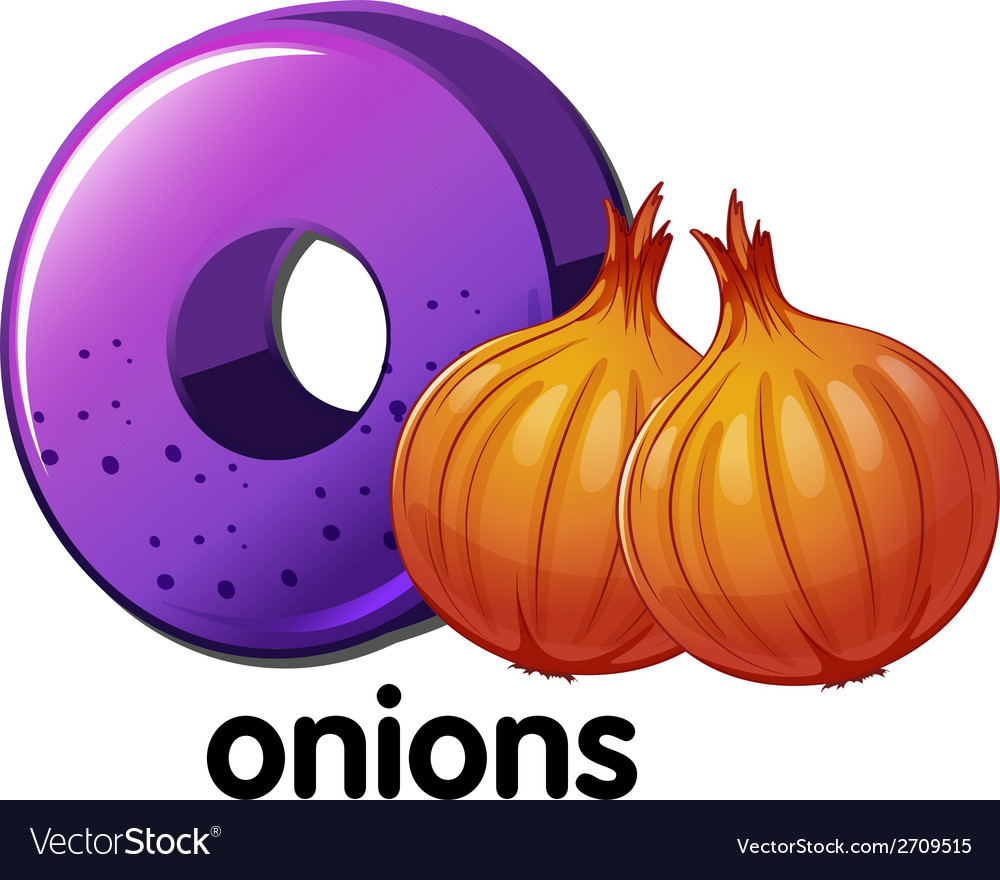A letter o for onions vector | Price: 1 Credit (USD $1)