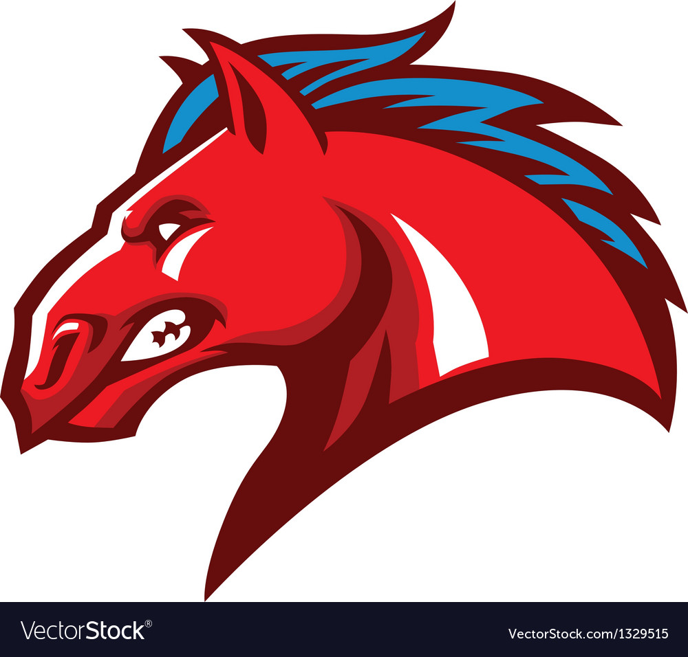 Angry horse head mascot vector | Price: 3 Credit (USD $3)