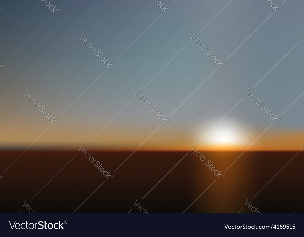 Blurred sunset background vector | Price: 1 Credit (USD $1)