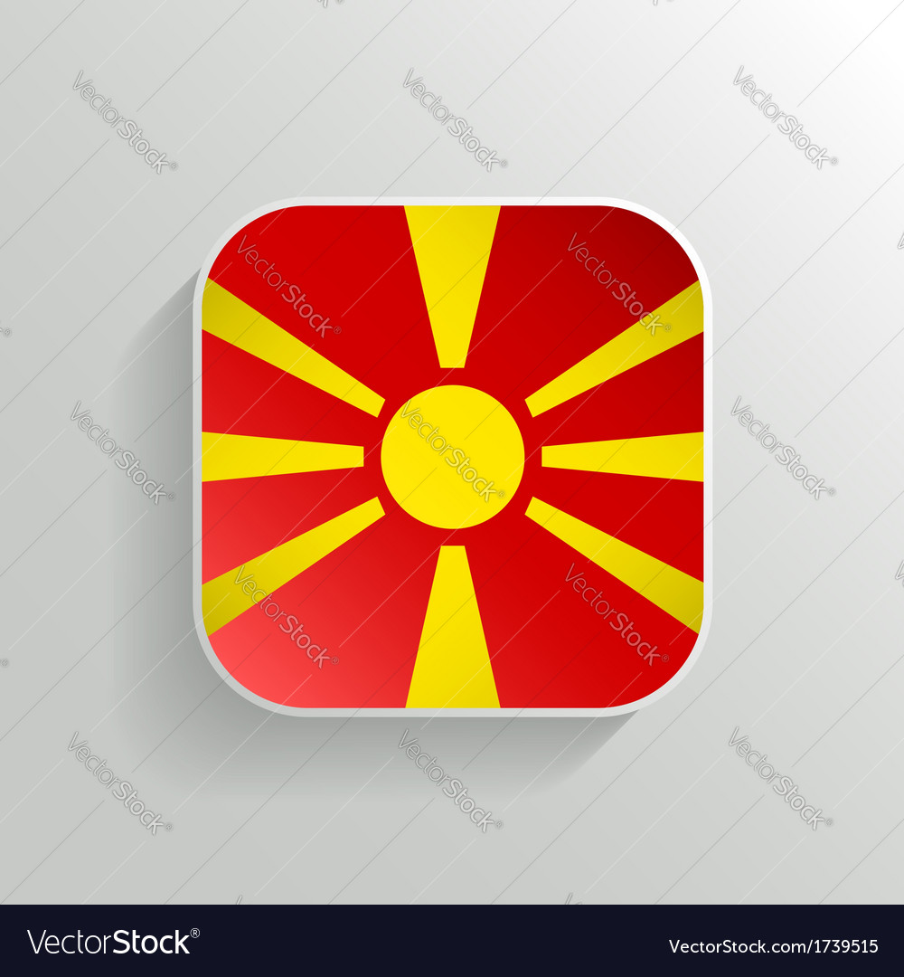 Button - macedonia flag icon vector | Price: 1 Credit (USD $1)