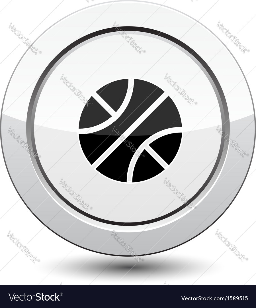 Button with basketball sport icon vector | Price: 1 Credit (USD $1)