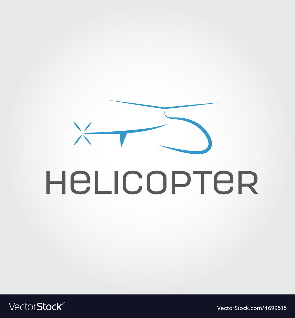 Helicopter design template vector | Price: 1 Credit (USD $1)