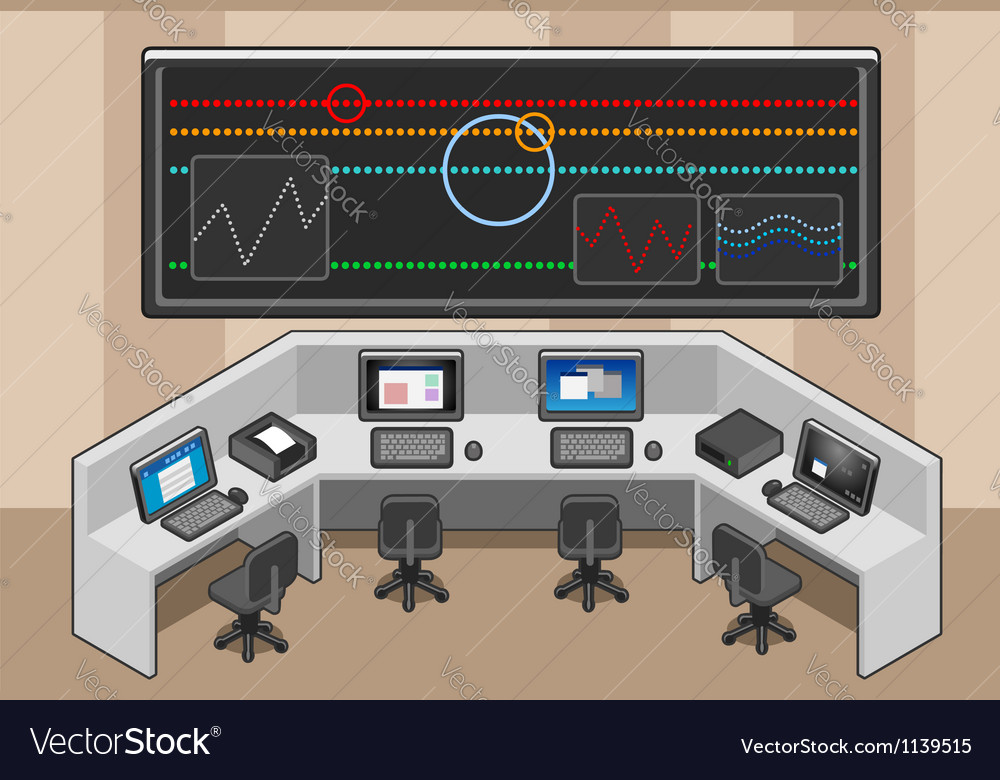 Isometric controll center vector | Price: 3 Credit (USD $3)