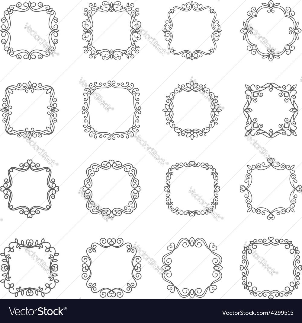 Set outline frame vector | Price: 1 Credit (USD $1)