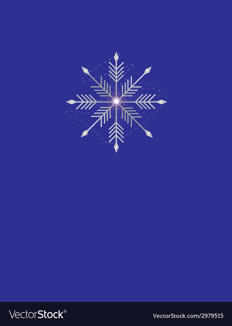 Silver snowflake vector | Price: 1 Credit (USD $1)
