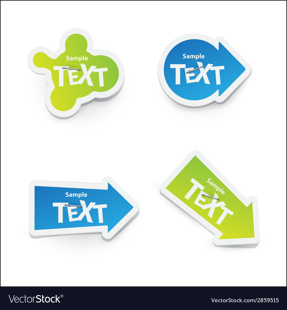 Sticker for text vector | Price: 1 Credit (USD $1)