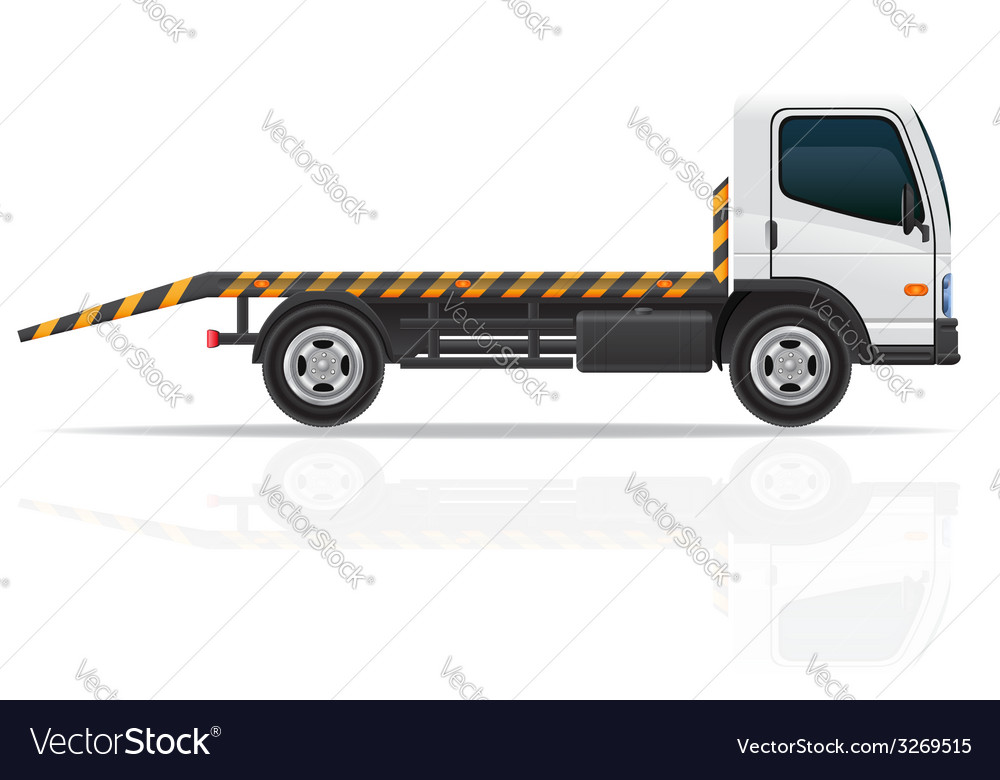 Tow truck 01 vector | Price: 3 Credit (USD $3)