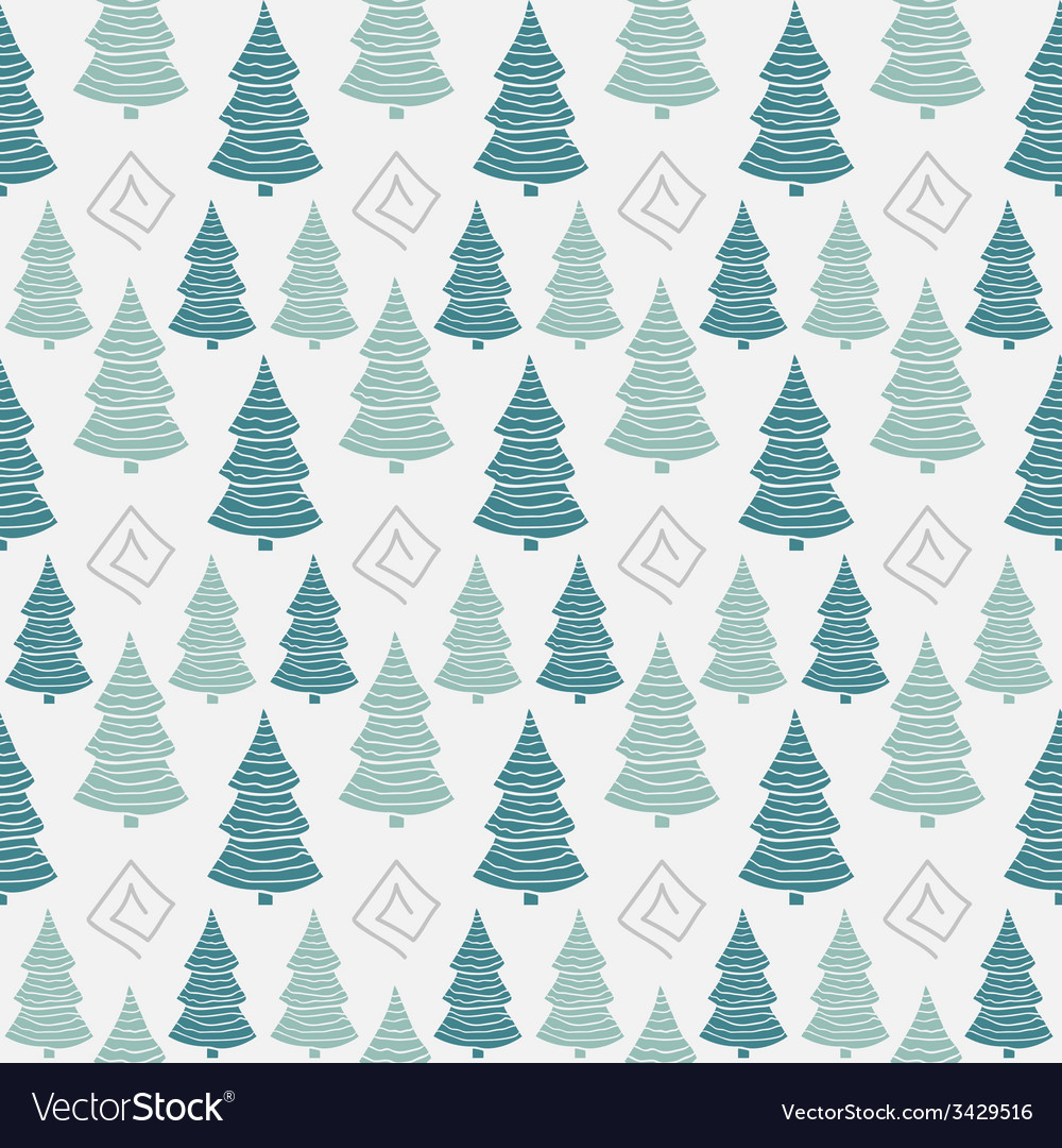 Abstract color christmas tree seamless pattern vector | Price: 1 Credit (USD $1)
