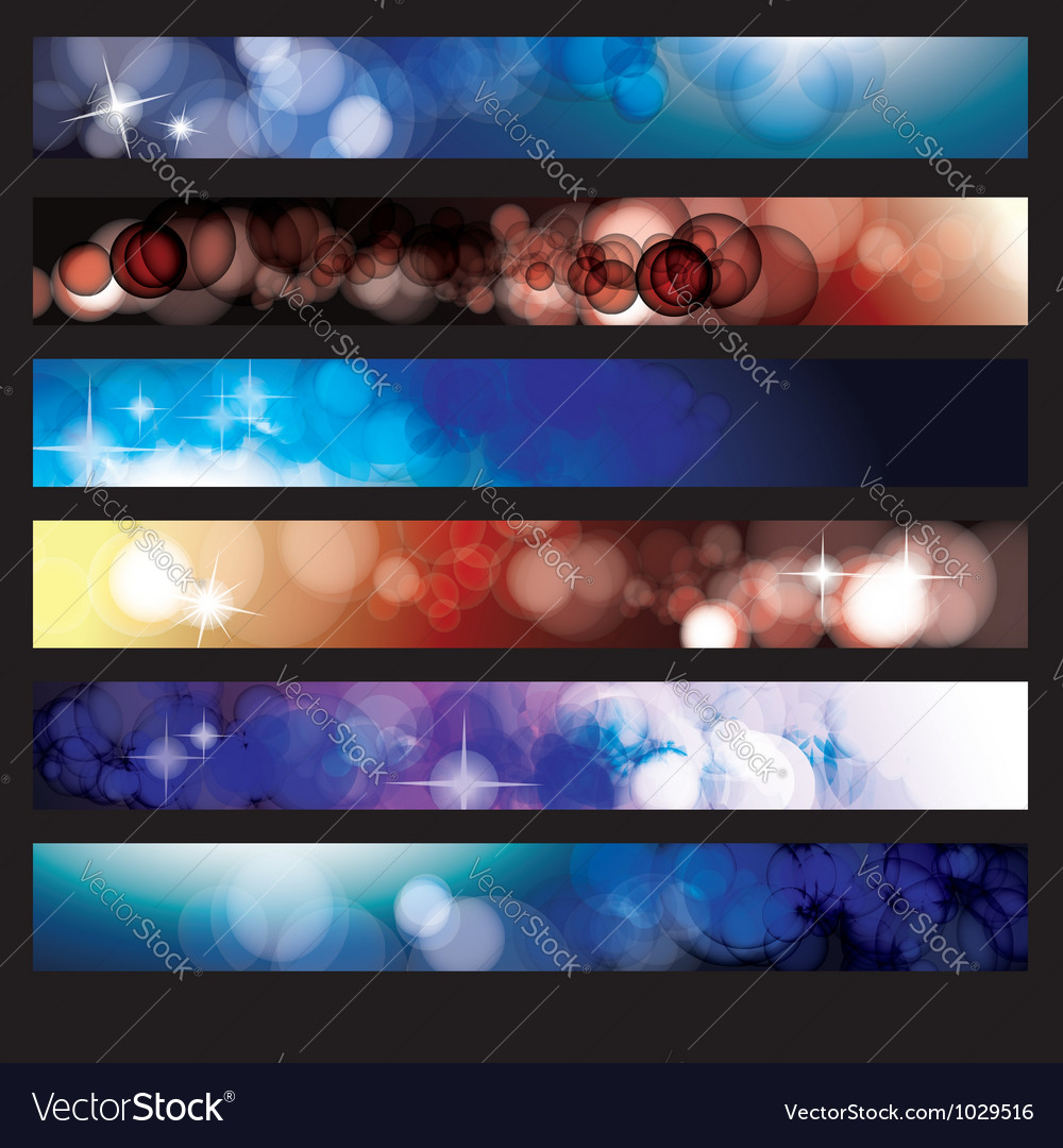 Abstract glow background set vector | Price: 1 Credit (USD $1)