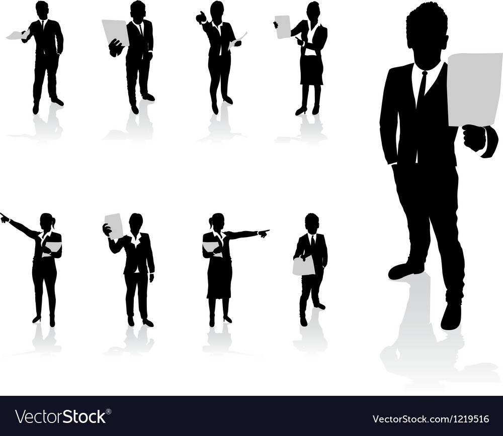 Business people paper vector | Price: 1 Credit (USD $1)